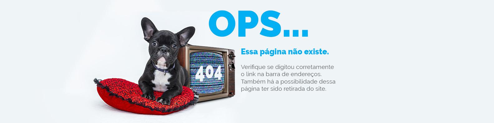 Erro 404, página não encontrada
