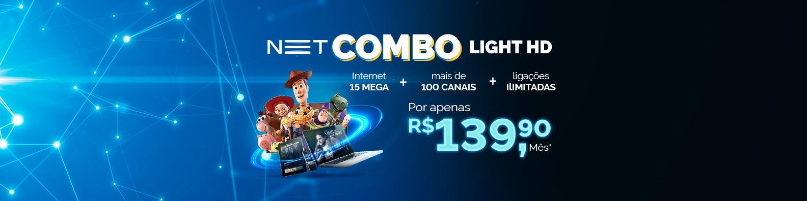 NET Vírtua 120 MEGA por R$139,90 no combo*