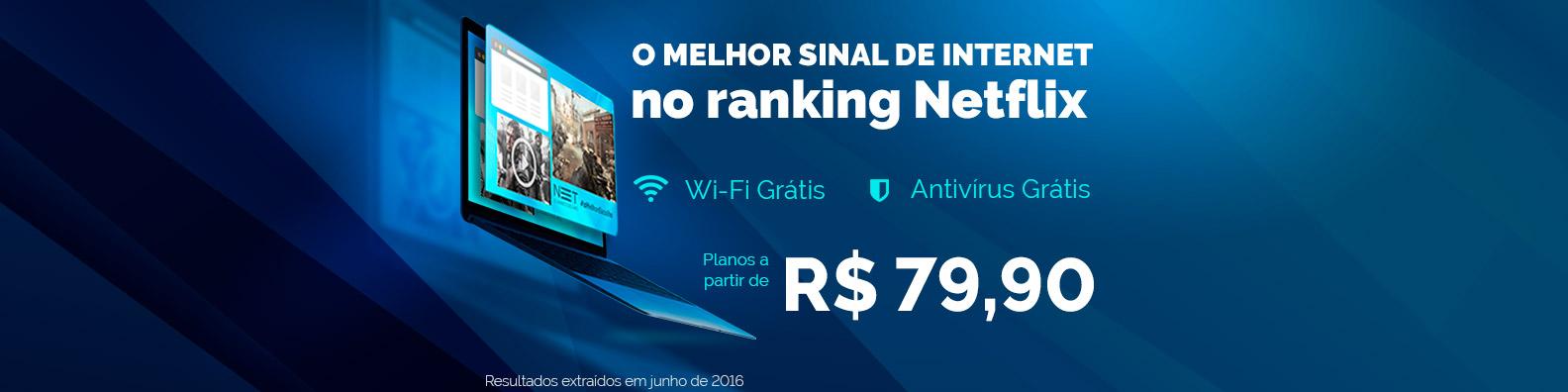 NET Vírtua 120 MEGA por R$79,00 no combo*